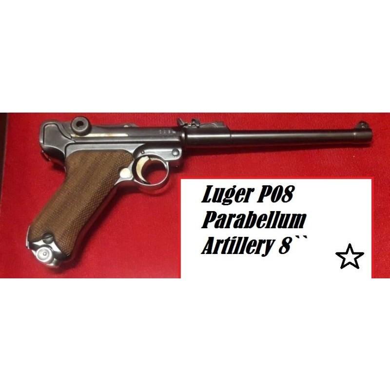 İyi Fiyat...Luger P08 Parabellum Artillery 8 Inch DWM